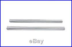 Hard Chrome 39mm Fork Tube Set 31 Total Length fits Harley Davidson, V-Twin 2