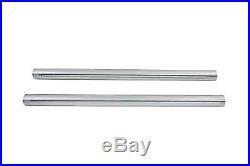 Hard Chrome 39mm Fork Tube Set 31 Total Length, for Harley Davidson, by V-Twin