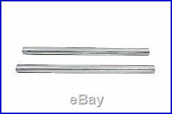 Hard Chrome 39mm Fork Tube Set 31 Total Length for Harley Davidson by V-Twin
