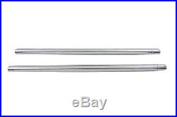 Hard Chrome 41mm Fork Tube Set 24-7/8 Total Length fits Harley Davidson, V-Tw