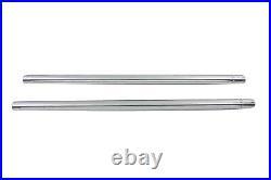 Hard Chrome 41mm Fork Tube Set 24-7/8 Total Length, for Harley Davidson, by V