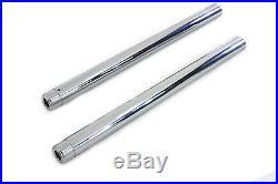 Hard Chrome Fork Tube Set Stock Length, for Harley Davidson, by V-Twin