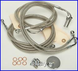 Harley 09-13 FLTR withABS 4-Line Steel Braided Brakeline Kit +2 Length