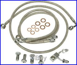 Harley 11-13 FL/FXS withABS Steel Braided Brakeline Kit +10 Length