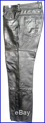 Harley Davidson Hein Gericke AMF Leather pants Mens W34 x L29 Leg Length Cut