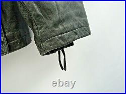 Harley Davidson Large Vintage Heavy Leather Jacket Longer Length Belted