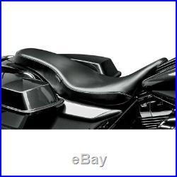Harley Sitzbank Cobra Full-Length Smooth black La Pera Touring 08-18