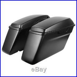 Hogworkz OEM Length Saddlebags with Lids Harley'14-'18 FLH Denim Black