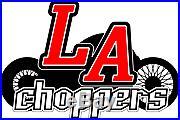 LA Choppers LA-8050B00 Stainless Steel Brake Line Kit, Stock Length Harley-D