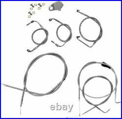 LA Choppers Stock Length Stainless Cable Brake Lines 96-06 Harley FLSTC FXSTD