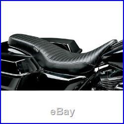 LePera Pleated Cobra Full-Length Seat for 2008-18 Harley FLHT FLHR FLHX Touring