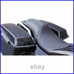 LePera Smooth Silhouette Full Length Seat 2008-18 Harley with PYO Stretched Tank