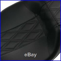 Le Pera Black Diamond Outcast Full Length Daddy Long Leg Seat 08+ Harley Touring