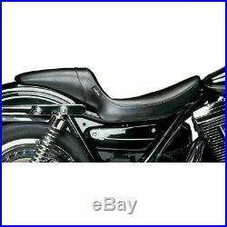 Le Pera L-541S Smooth Black Daytona Sport Full Length Seat Harley FXR 82-00