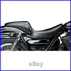 Le Pera L-541 PT Pleated Black Daytona Sport Full Length Seat Harley FXR 82-00