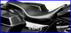 Le Pera Pleated Black Vinyl Cobra Full Length Seat for Harley Touring 08-16