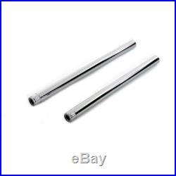 NEW V-Twin 24-0413 Chrome 41mm Fork Tube Set Pair 26-1/4 Total Length Harley FX