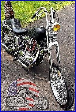 Narrow Dna Stock Length Chrome Springer Front End Harley Bobbers Spool Wheel