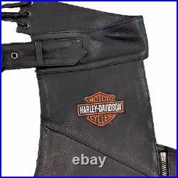 New Harley Davidson Men's Sz Large Leather Riding Chaps #98090-06VM Full Length