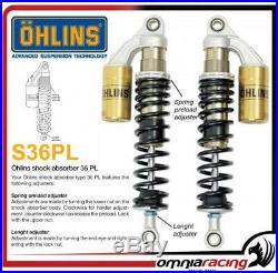 Ohlins S36PL 336 +10/-0mm Length amortiguadors Harley XL 883 Sportster 11