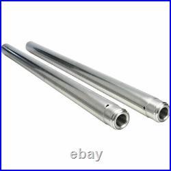 Pair Of Chrome Fork Tubes Stock Length For Harley-Davidson 1997-2013