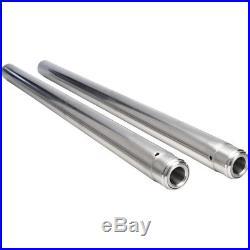 Pair Of Chrome Fork Tubes Stock Length For Harley-Davidson Touring 1997-2013