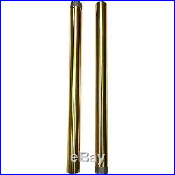 Pro One 105120G Gold 49 MM 25.50 Length Fork Tube Pair Harley Dyna FXD 06-17