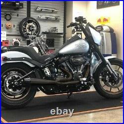 Sawicki 2 into 1 Black Full Length Pipe Black Tip Exhaust Harley Softail M8 18-U