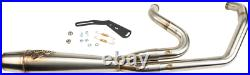 Sawicki 2 into 1 Brushed Full Length Cannon Exhaust Harley M8 Softail 18-Up