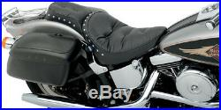 Seat chopped full length pillow vinyl black HARLEY DAVIDSON SOFTAIL HERITAG