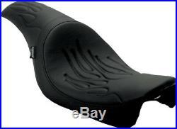 Seat predator front full length vinyl black HARLEY DAVIDSON DYNA GLIDE SUPE