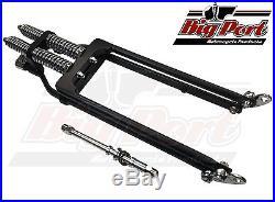 Springer Forks Harley Bobber Chopper 4 Inch Over Length Black & Chrome Big Port