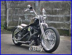 Springer Front End +8 Over Stock Length For Harley & Customs Chrome New