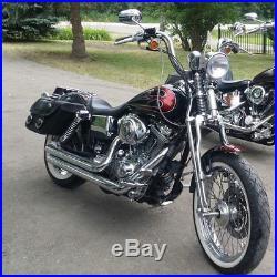 Springer Front End Stock Length Black fits Harley Dyna 1992-17 & Sportster 04-up