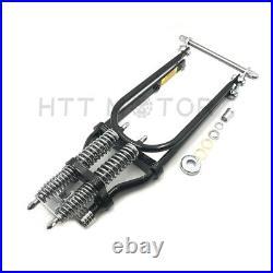 Stock Length 22 Black Springer Front End For Harley Sportster Chopper Softail