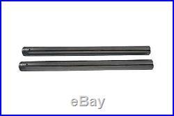 Stock Length Hard Chrome Fork Tube Set, for Harley Davidson, by V-Twin