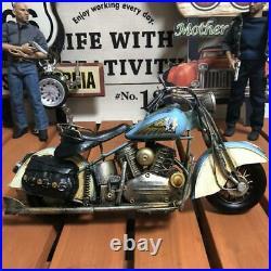Total Length 38Cm Indian Harley Davidson Tinplate Bike Antique