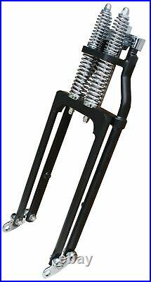 Ultima Black -4 Stock Length 1 Neck Springer Front End Custom Harley 117-80