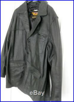 V1 Harley Davidson 3/4 Length American Legend Leather Jacket XXL 2xl