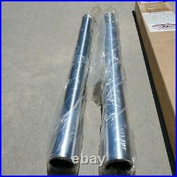 V-Twin Custom Cycle For Harley-Davidson Hard Chrome Fork Tube Set Stock Length