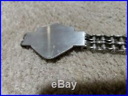 Vtg Harley Primary Chain Motorcycle with Belt Buckle length is 43 inches. 2 row