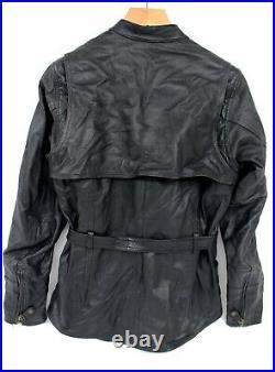 Women's Harley Davidson Black Leather Mid Length Motorcycle Biker Jacket Size L