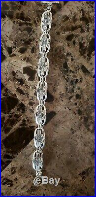 Women's Harley Davidson Bracelet, Sterling Silver, 7.5 Inch Length, 32.6 Grams