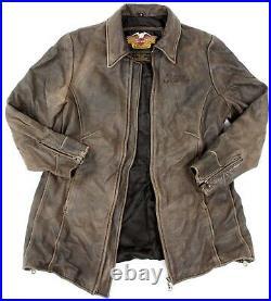Women's Harley Davidson Leather Mid Length Motorcycle Jacket 1W Plus Size 16-18